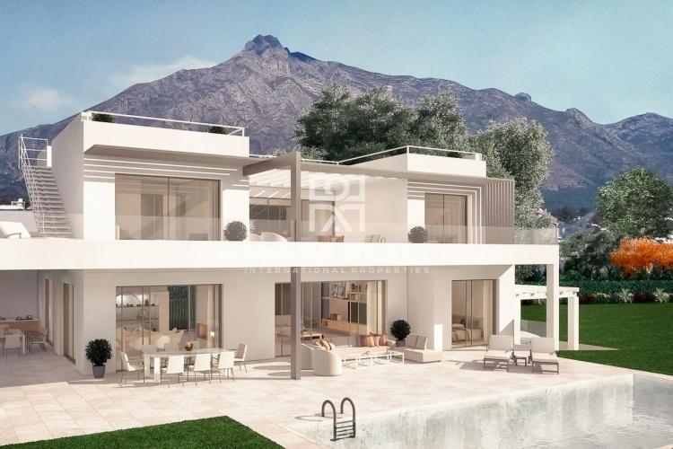 Maison / Villa avec 6 chambres, terrain 1011m2, a vendre á Golden Mile, Costa del Sol