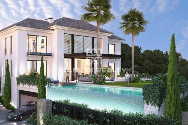 Maison / Villa avec 5 chambres, terrain 1520m2, a vendre á Marbella Ouest, Costa del Sol
