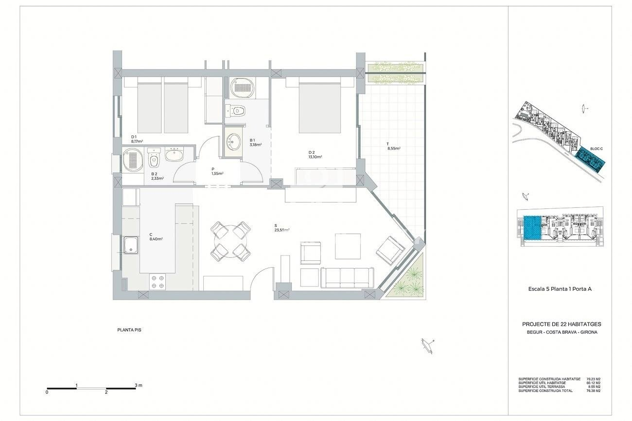 Nouveau projet de 22 appartements exclusifs près de la plage de Pals, Costa Brava