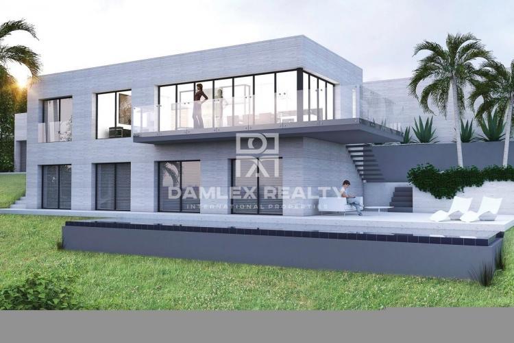 Villa moderne en construction sur la Costa Brava